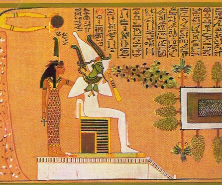 'Osiris Khenti Amenti'  Osiris Queen Maat Ma'at