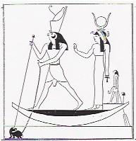 Isis boat papyrus Osiris